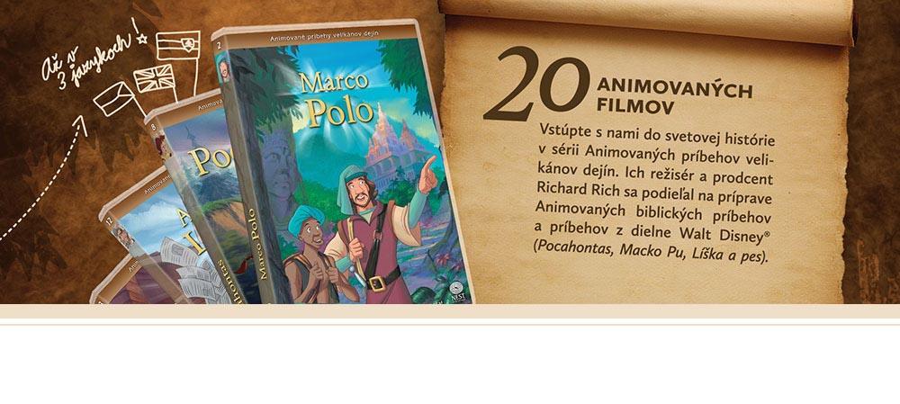 Animované príbehy velikánov dejín